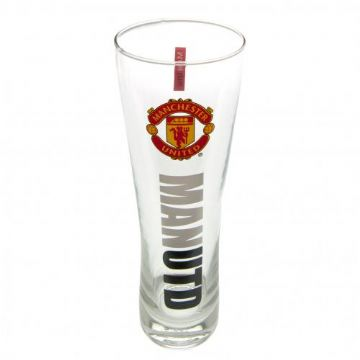 Manchester United Tall Beer Pint Glass